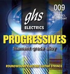 GHS PRXL Progressives 09-42 stygos elektrinei gitarai