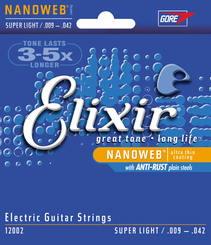 Elixir 12002 Super Light 9-42 stygos elektrinei gitarai