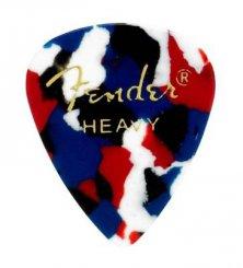 Fender 351 Confetti pick heavy mediatorius