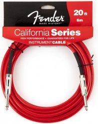 Fender 20  California Candy Apple red laidas gitarai