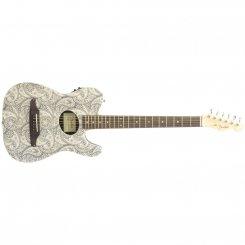 Fender Telecoustic White Paisley