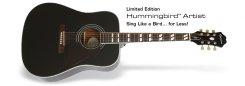 Epiphone Hummingbird Artist Ebony akustinė gitara