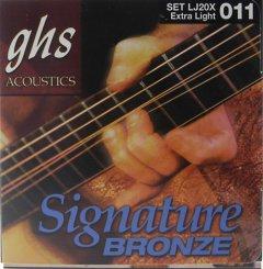 GHS LJ20X Laurence Jubber 11-50 stygos akustinei gitarai