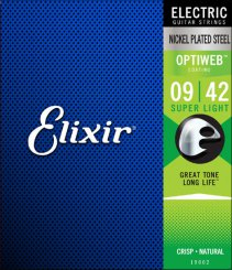 Elixir 19002 OPTIWEB Super Light 9-42 stygos elektrinei gitarai