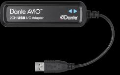 Dante AVIO USB IO Adapter 2x2
