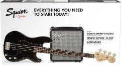 Squier PK PJ-bass R15 BLK bosinės gitaros komplektas