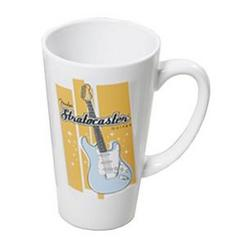 Fender Fearsome Foursome16oz Strat Coffee House Mug White
