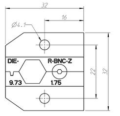 Neutrik  DIE-R-BNC-Z