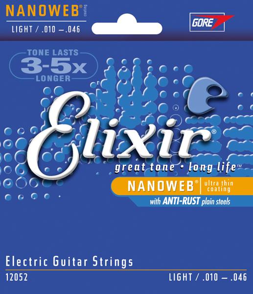 Elixir 12052 Light 10-46 stygos elektrinei gitarai