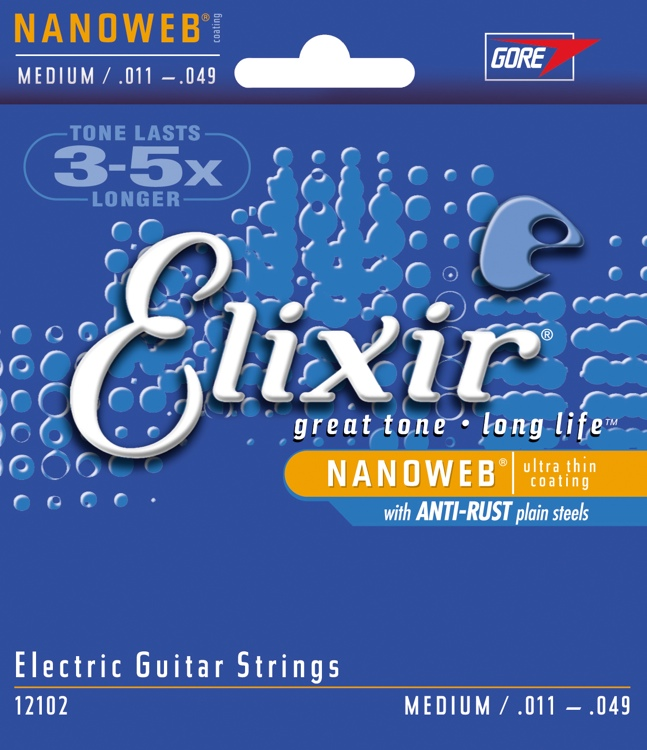 Elixir 12102 Light 11-49 stygos elektrinei gitarai