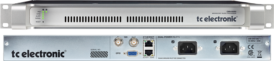 TC electronic DB6 single Loudness Audio Processor