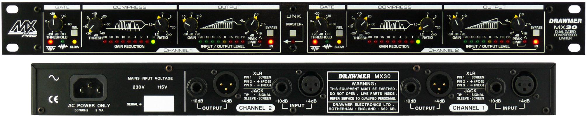 Drawmer MX30 kompresorius/geitas
