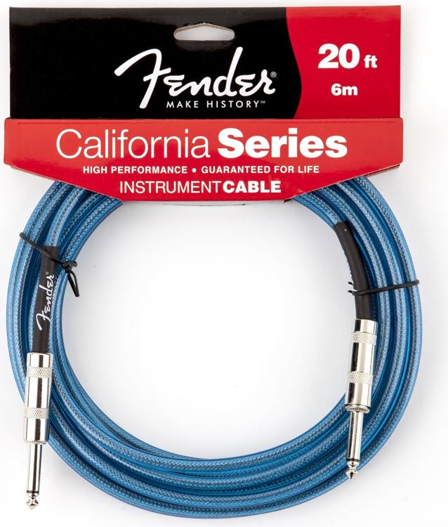 Fender 20  California Lake Placid Blue laidas gitarai