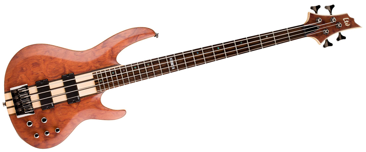 LTD by ESP B4 Bubinga NAT bosinė gitara