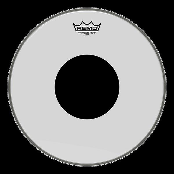 Remo 24 CS Batter Top Black Dot Clear