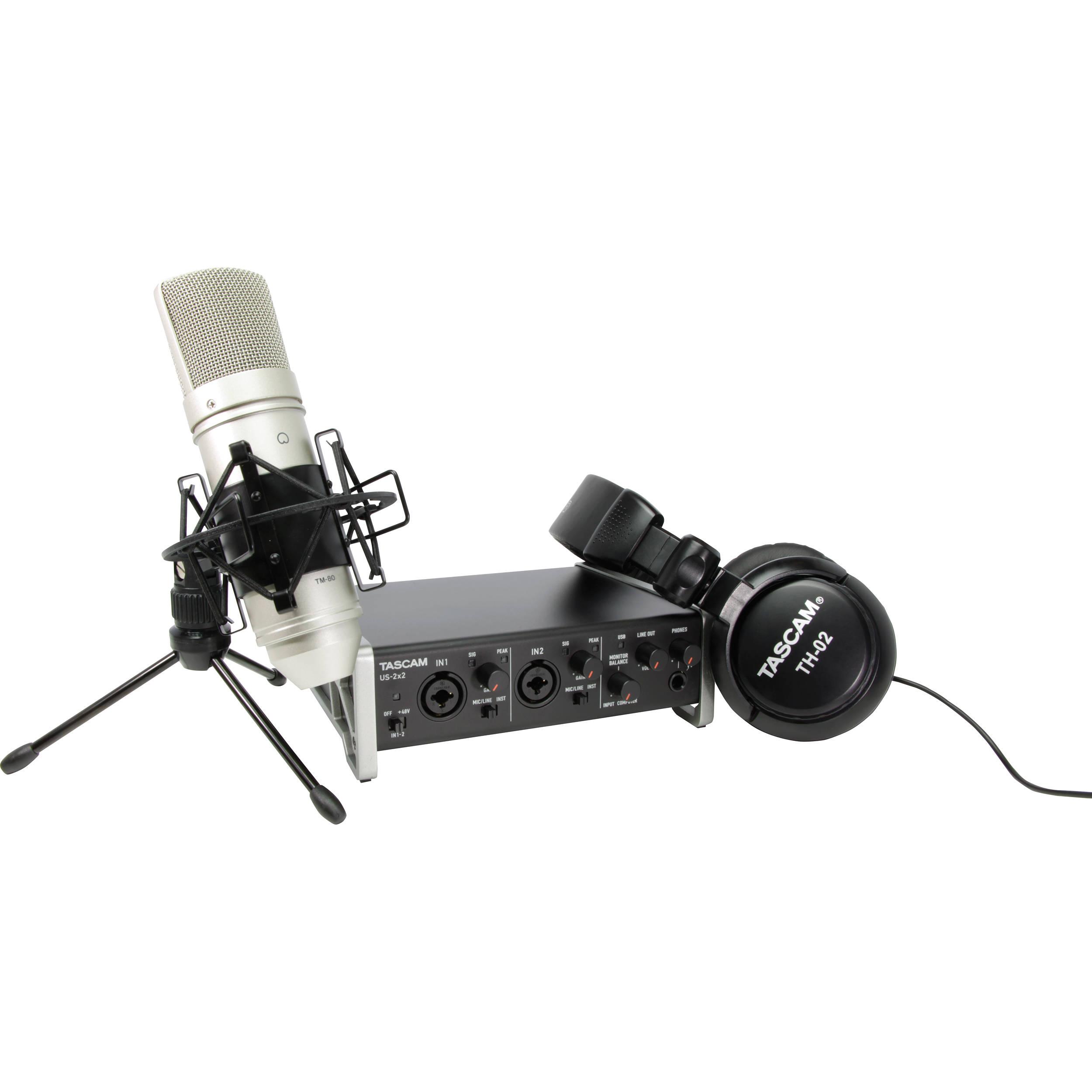 Tascam US-2x2TP rinkinys garso įrašams