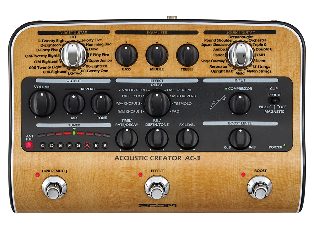 Zoom AC3 Acoustic Guitar FX
