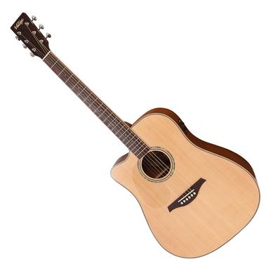 Vintage LVEC501N elektro-akustinė gitara kairiarankiam