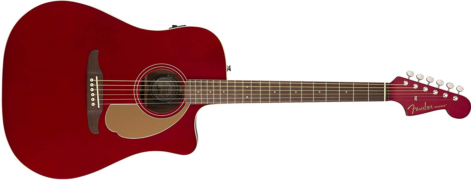 Fender Redondo Player Candy Apple Red WN elektro-akustinė gitara
