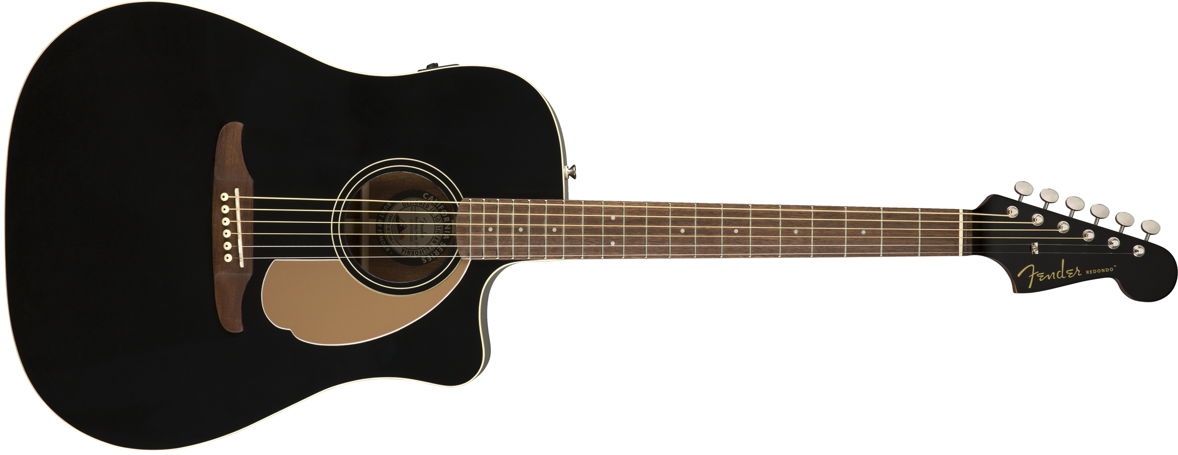 Fender Redondo Player Jetty Black WN elektro-akustinė gitara
