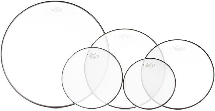 Remo Ambassador Pro Pack 12/13/14/16/22 plastikų rinkinys būgnų komplektui