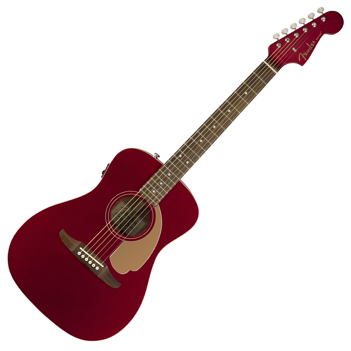 Fender Malibu Player Candy Apple Red WN elektro-akustinė gitara