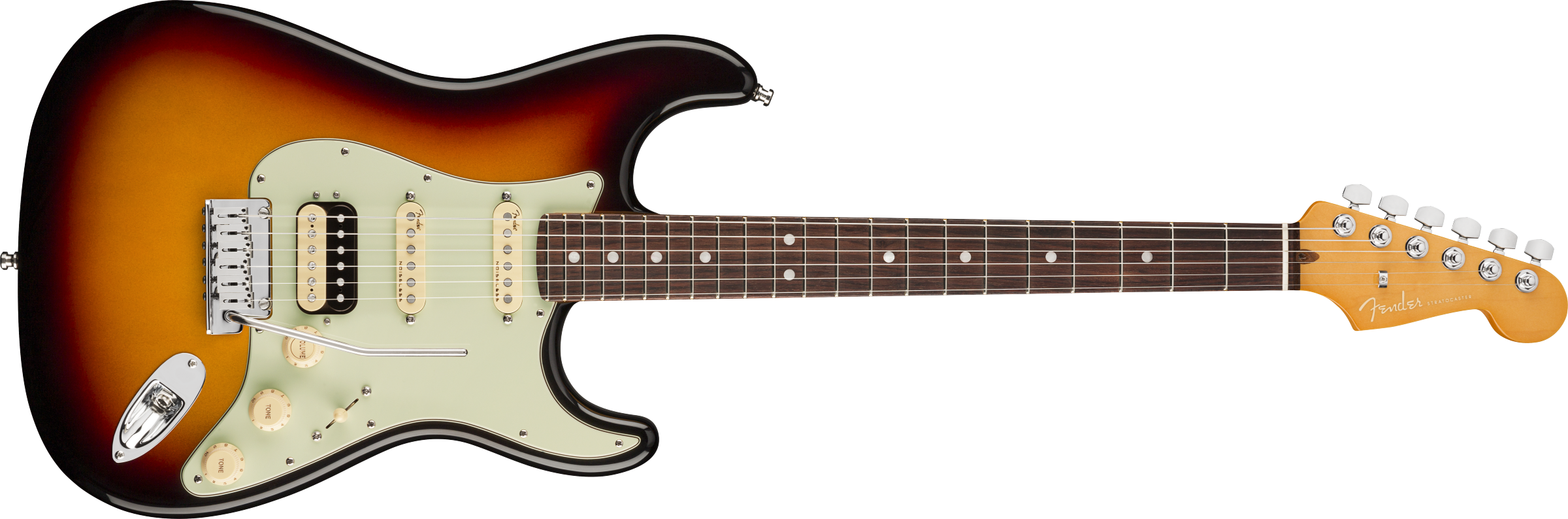 Fender American Ultra Stratocaster HSS Rosewood Fingerboard Ultraburst elektrinė gitara