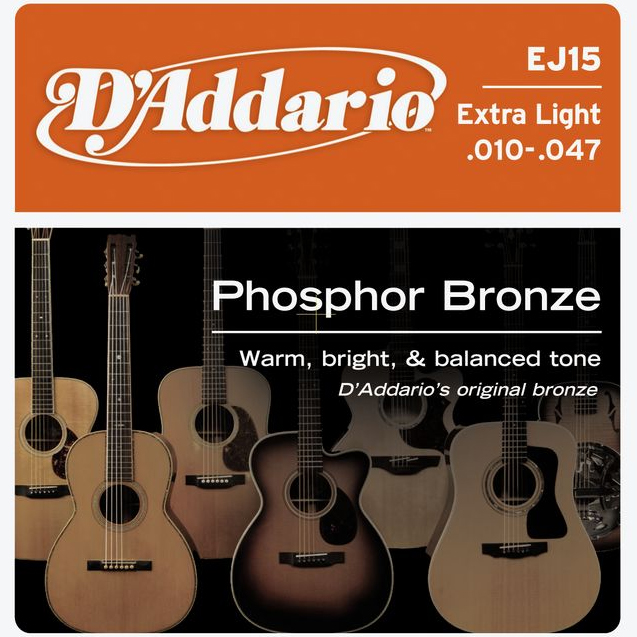 D`addario EJ15 stygos akustinei gitarai