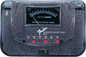 Fender AG6 Black Sparkle derinimo tiuneris gitarai